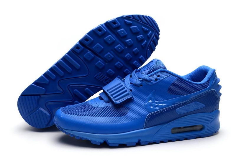 newest 96ce2 e8366 2015 Nike Air Yeezy 2 Sp Max 90 The Devil Series Trainers Chaussure Taille  40-46 Bleu Couleur Homme