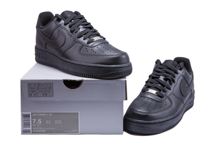 chaussures homme Nike Air Force 1 07 Noir 315122 001