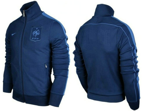 2012 13 veste nike n98 france national team training bleu