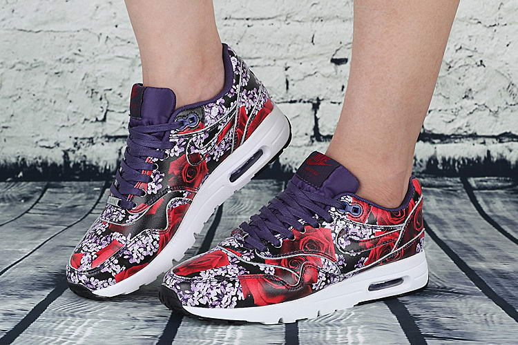 Air Max 1 Ultra Moire (l) Lotc Black Red Floral London Qs