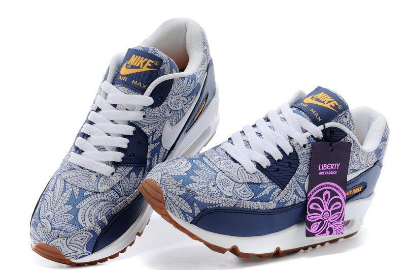 Nike Air Max 90 Liberty 654846 400 Blue RecallWhite Atmc